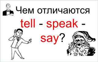Чем отличаются глаголы tell - speak - say?